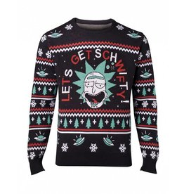 Rick and Morty Weihnachts-Sweater Let's Get Schwifty