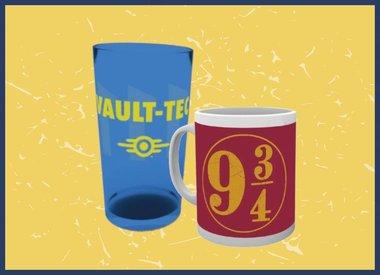 Tassen, Gläser und Becher