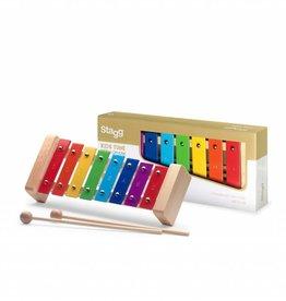 Metalefoon voor kids eén octaaf regenboog 3+