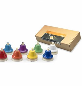 Tafelbellen voor kids  - set van 8  met kleurcodering