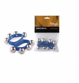 Polsband met (kerst)belletjes (2 stuks) blauw