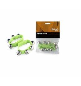 Polsband met (kerst)belletjes (2 stuks) groen