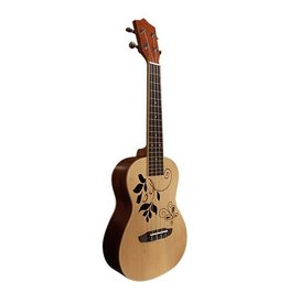 CLX Ukulele Leaves Concert model light brown