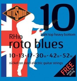 Rotosound Rotosound RH 10  snarenset elektrisch, nickel wound, 10-52, light top heavy bottom