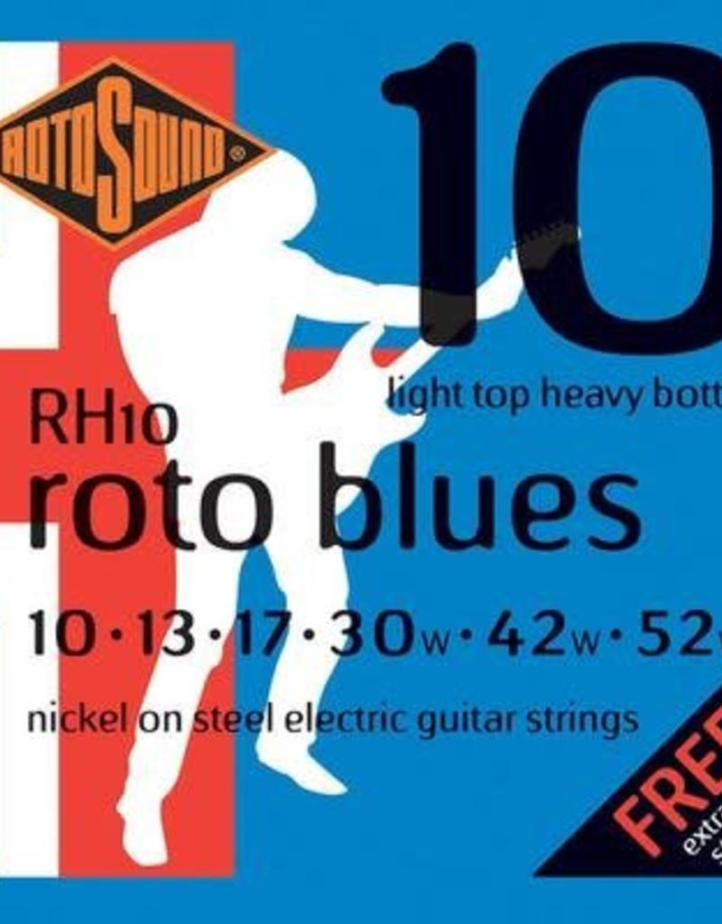 Rotosound Rotosound RH 10  snarenset elektrisch, nickel wound, 10-52, light top heavy bottom