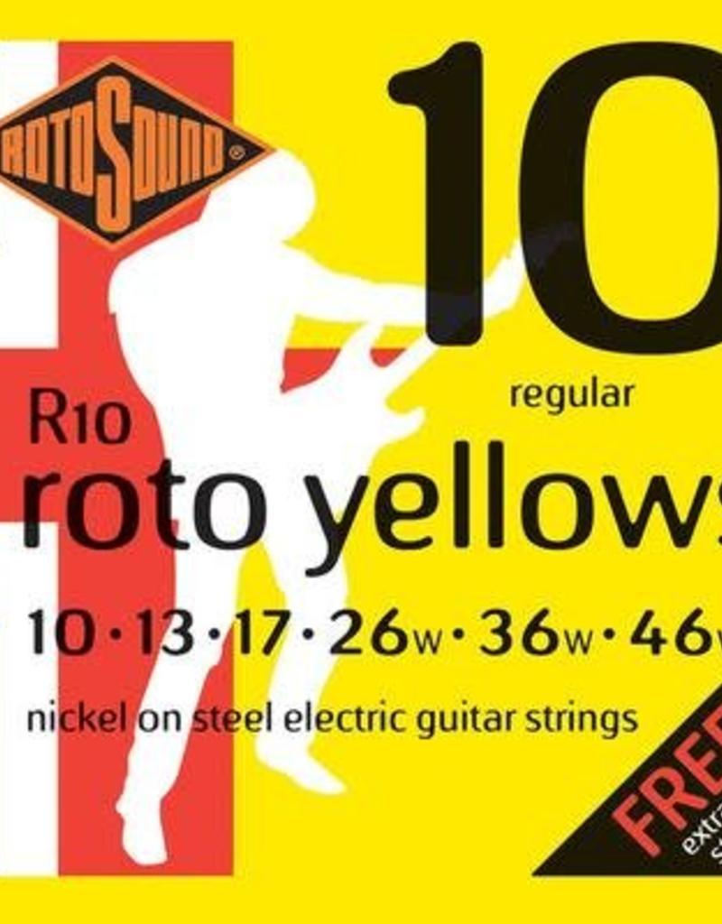 Rotosound Rotosound R 10snarenset elektrisch, nickel wound, 10-46, regular