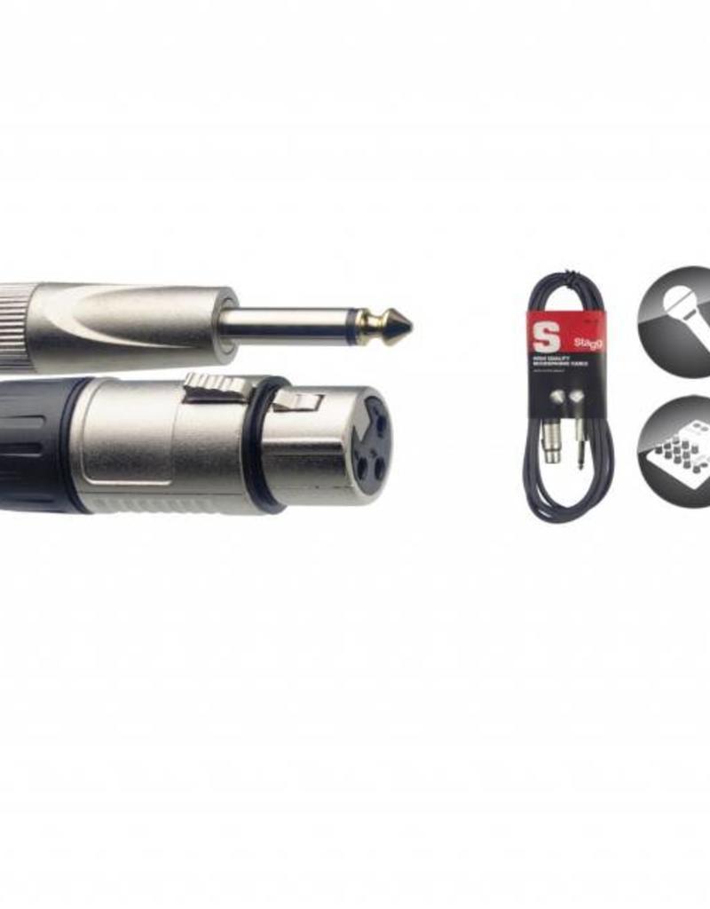Microfoonkabel - XLR/jack, 3 meter