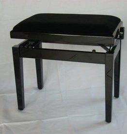 Pianobank  zwart mat velours