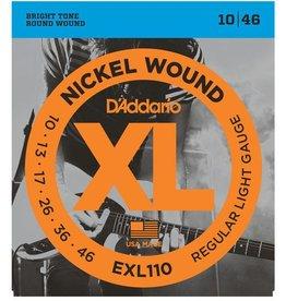 D'Addario snaren set 10 -46 electr gitaar EXL 110