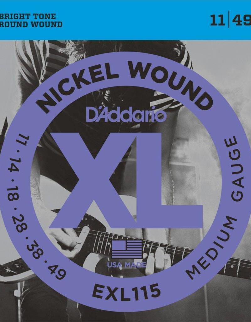D'Addario snaren set 011- 049 electr gitaar Exl 115