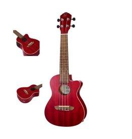 Ortega Ortega  Fire Red Satin Concert ukulele RUFIRE - CE