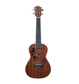 SMS Ukulele leaves Concert model Dark brown