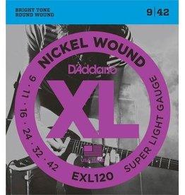 D' Addario D'Addario snaren set 009-042 electr gitaar EXL 120