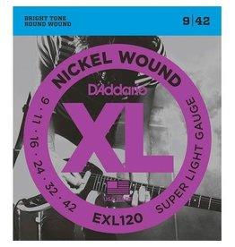D' Addario D'Addario snaren set 009-042 RW electr gitaar EXL 120