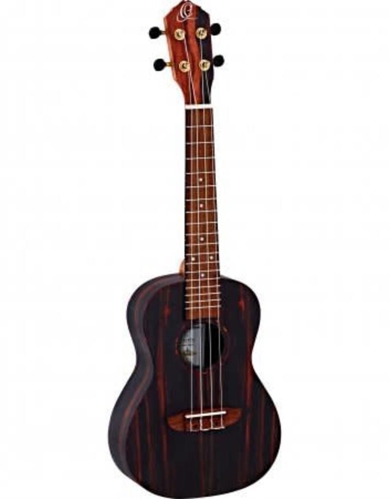 Ortega Ortega RUEB- CC Concert ukulele Ebony wood incl gigbag