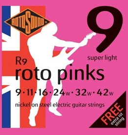Rotosound Rotosound R 9 snarenset elektrisch, nickel wound, 9-42, super light