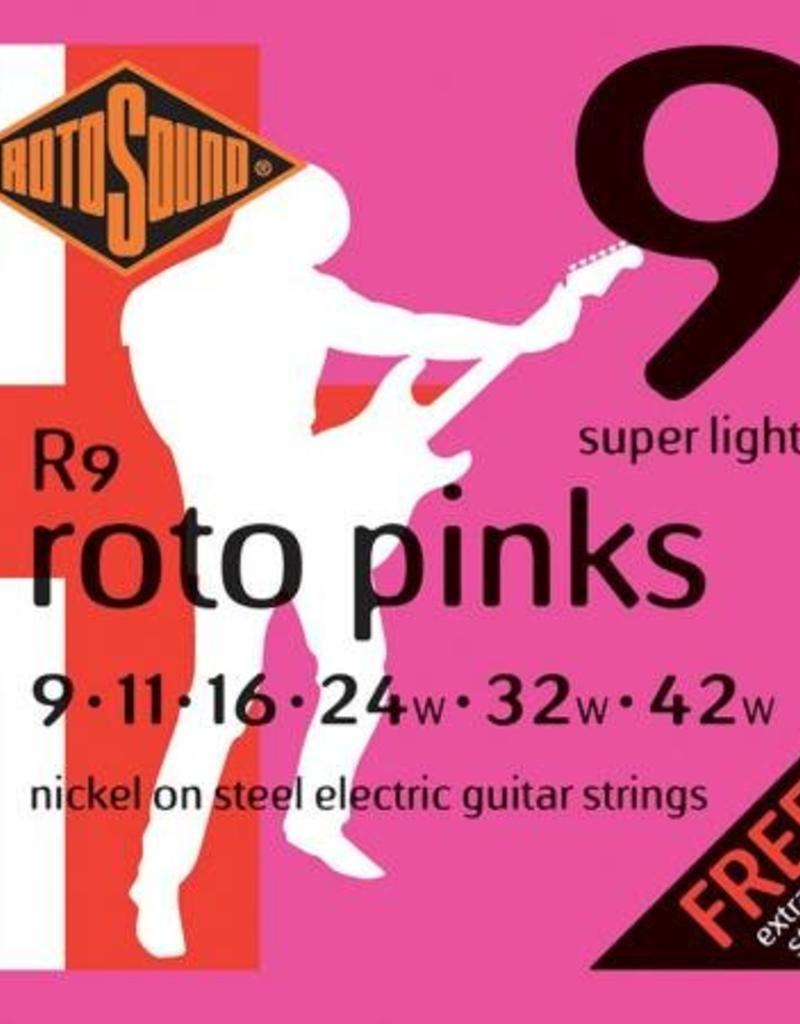 Rotosound Rotosound R 9 snarenset elektrisch, nickel wound, 9-42, super light