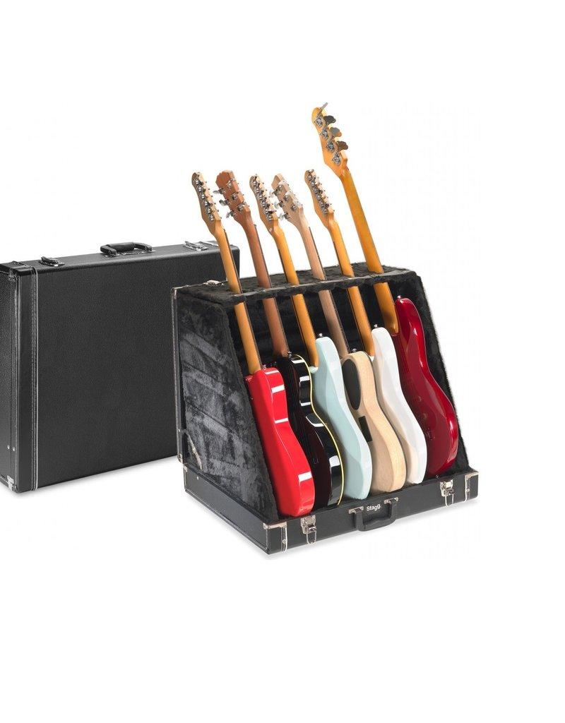 Stagg gitaarkoffer voor 6 gitaren