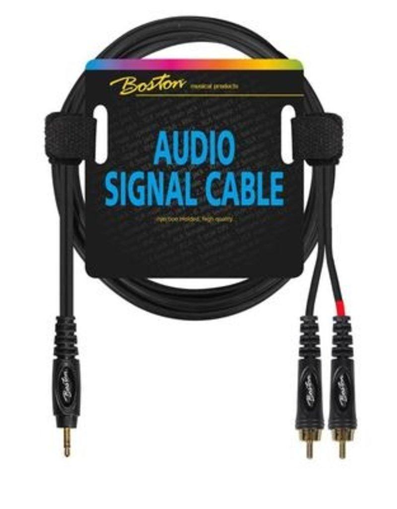 Boston Audio signaalkabel, 2x RCA naar 3.5mm jack stereo, 9 meter