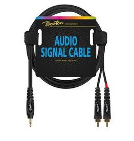 Boston Audio signaalkabel, 2x RCA naar 3.5mm jack stereo, 6 meter