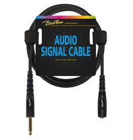 Boston Audio signaalkabel, 6.3mm female jack stereo naar 6.3mm jack stereo, 3 meter