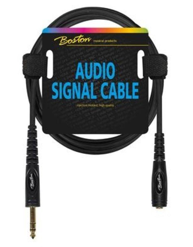 Boston Audio signaalkabel, 6.3mm female jack stereo naar 6.3mm jack stereo, 3 meter