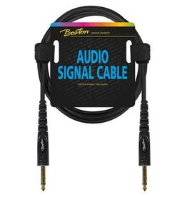 Boston Audio signaalkabel, 6.3mm jack stereo naar 6.3mm jack stereo, 3 meter