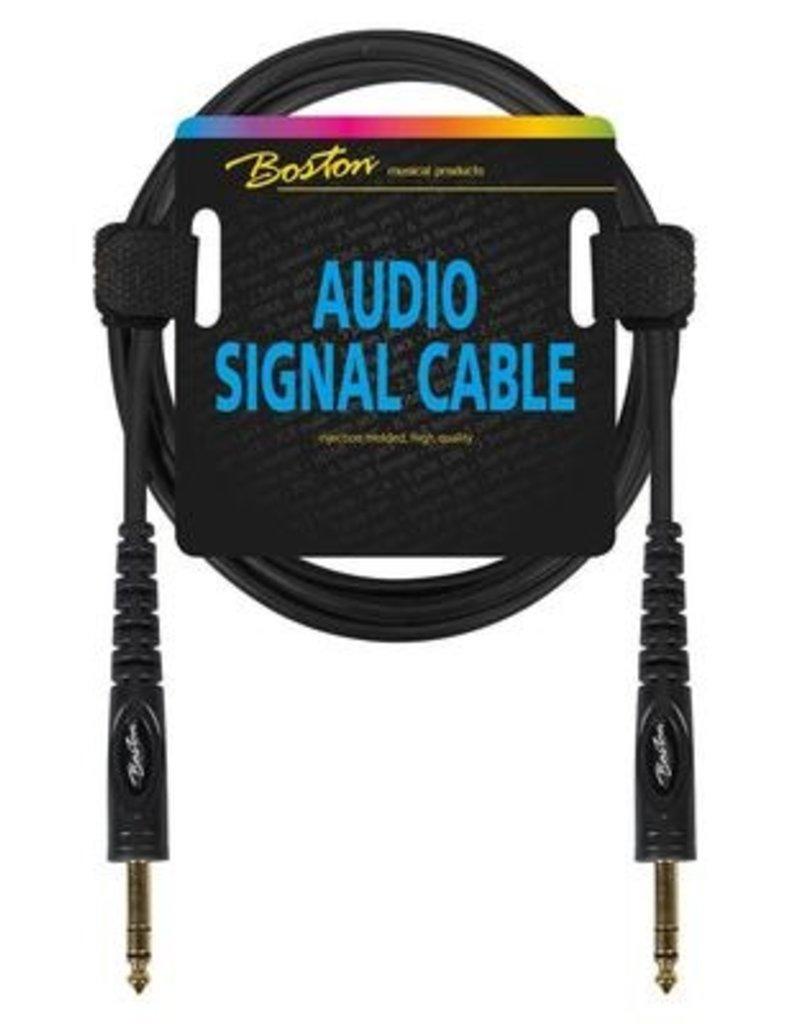 Boston Audio signaalkabel, 6.3mm jack stereo naar 6.3mm jack stereo, 3 meter