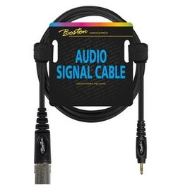 Boston Audio signaalkabel, XLR male naar 3.5mm jack stereo, 1.5 meter
