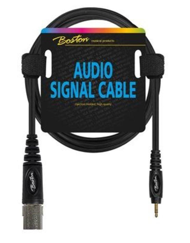 Boston Audio signaalkabel, XLR male naar 3.5mm jack stereo, 1.5 meter
