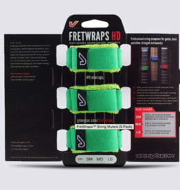 Gruvgear Gruvgear Fretwrap 3 pack green Medium
