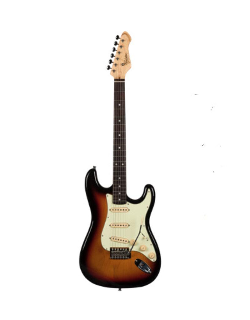 Revelation Revelation electrische gitaar  RTS  62  3 Tone Sunburst