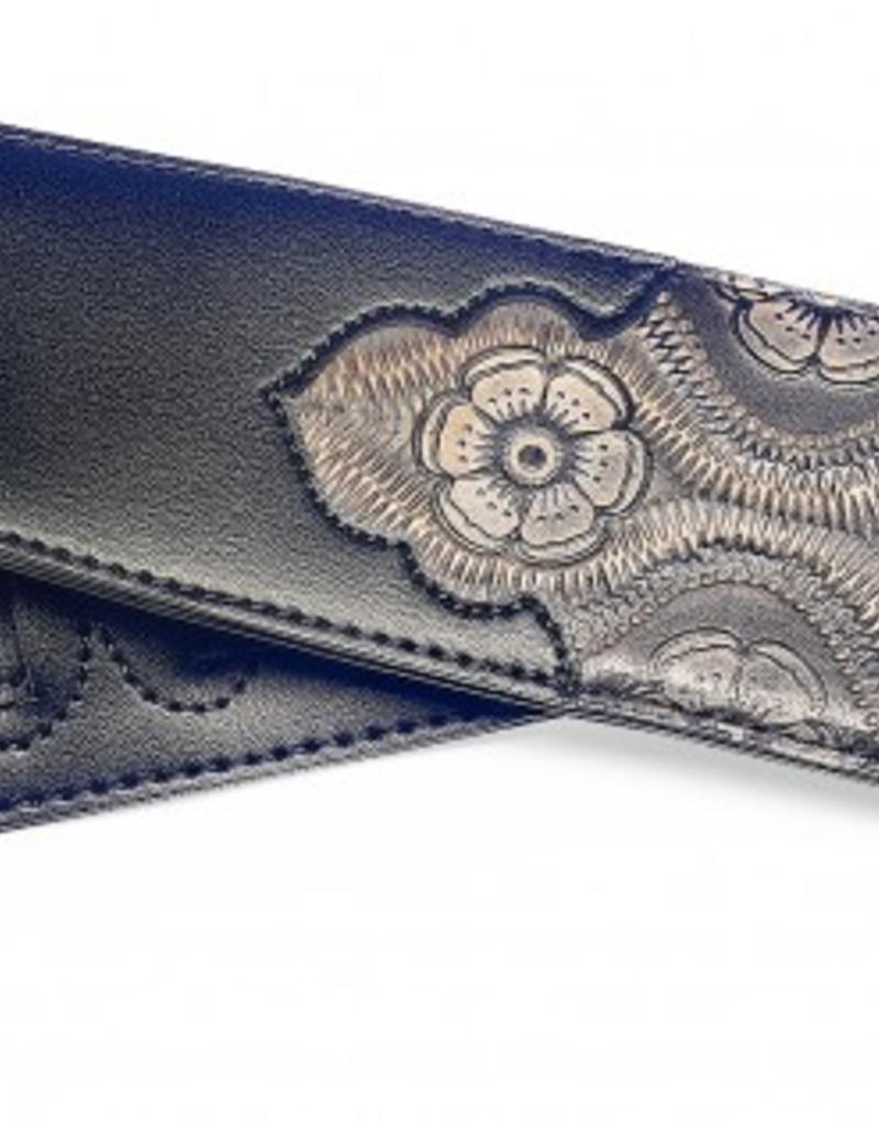 Paisly style strap kunstleer zwart/grijs