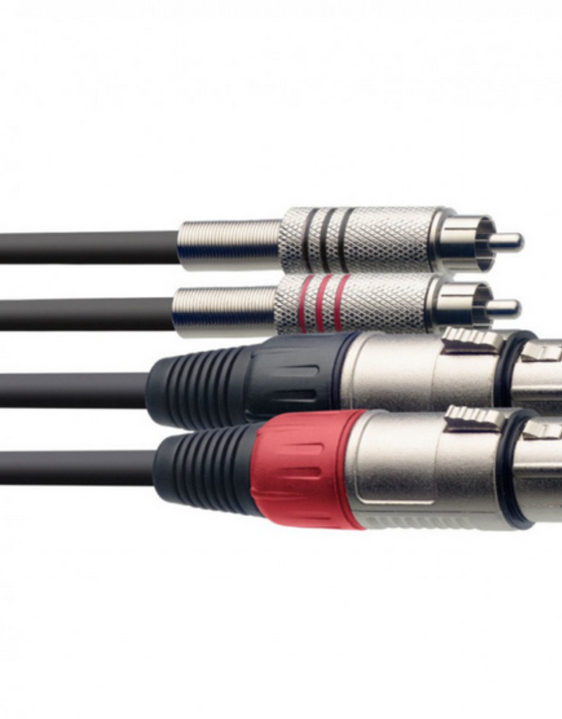 Stagg twin cable XLR  female - RCA male 1,5m