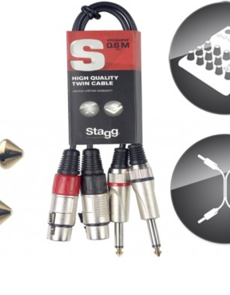 Stagg twin cable Jack - XLR