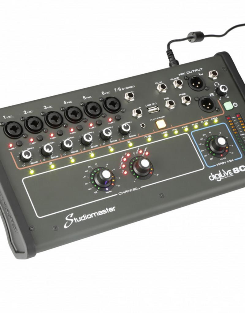 Studiomaster Studiomaster 8 kanaals digitale mixer