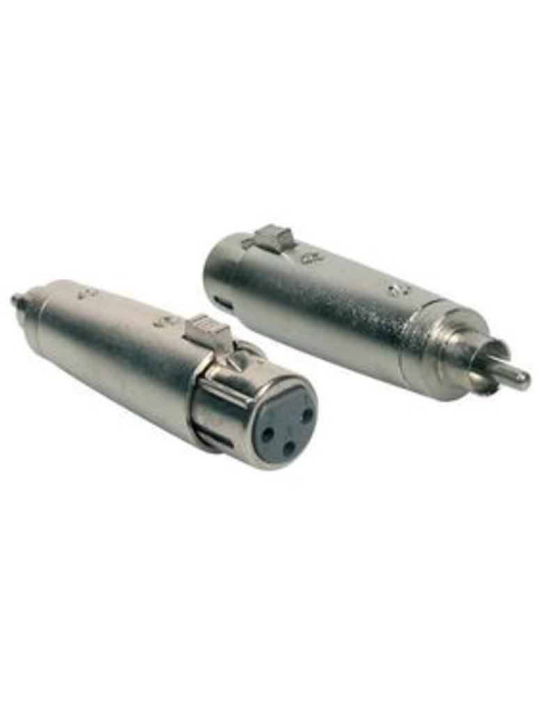 Boston Verloop plug, XLR female metaal, RCA male