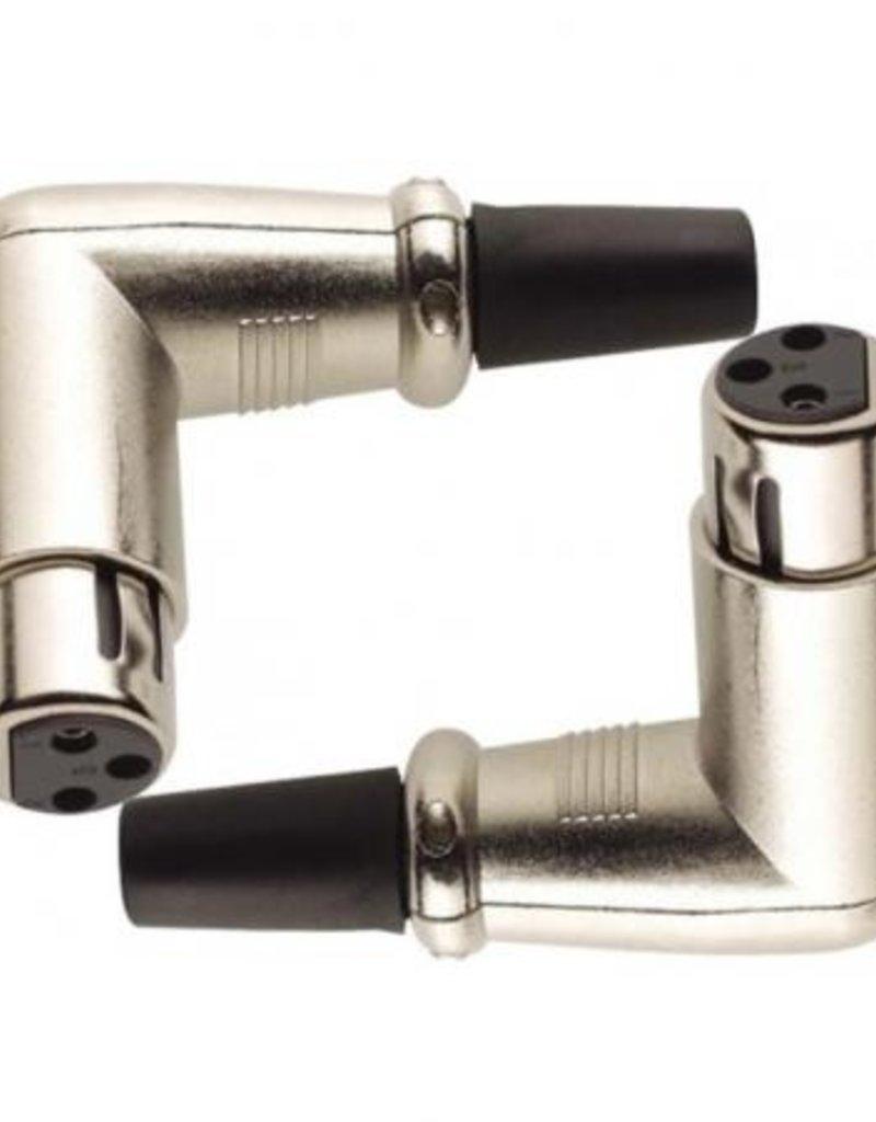 Stagg XLR female haakse plug set van 2