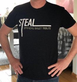 T-shirt STEAL groot logo zwart