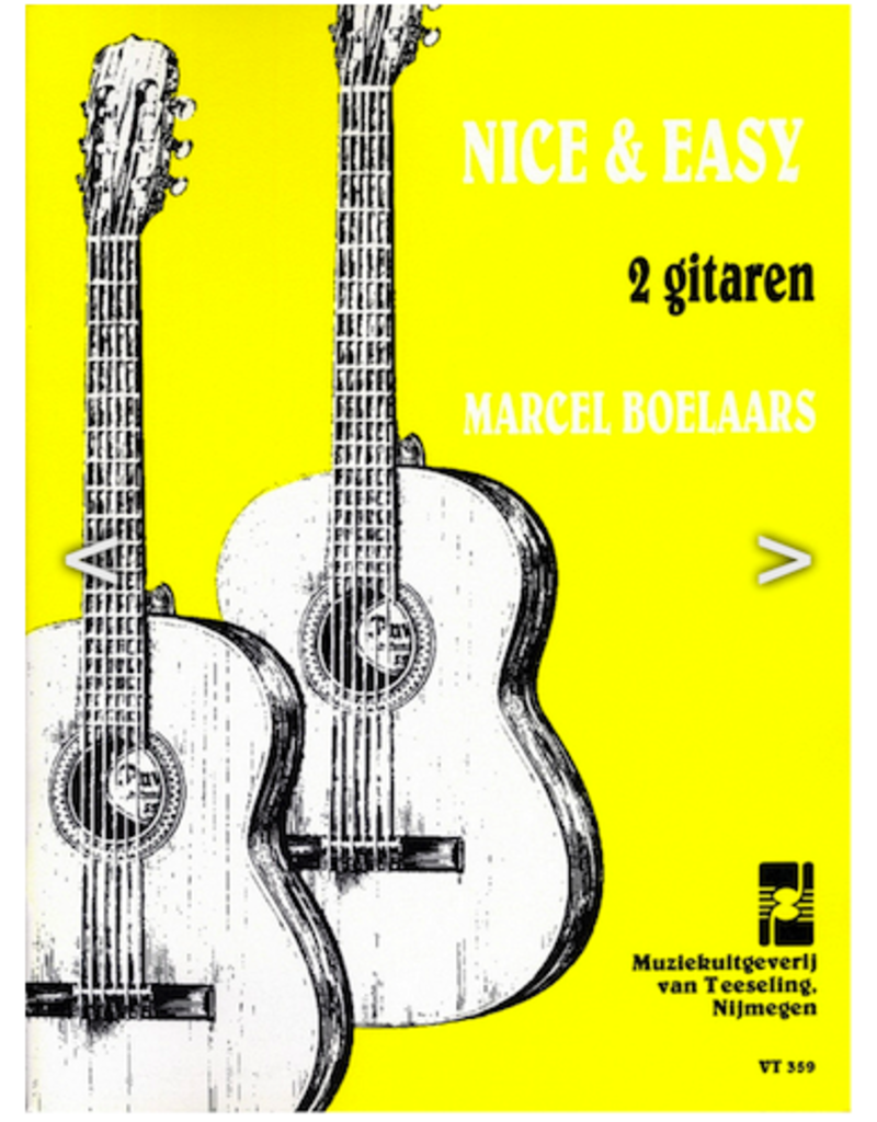 Marcel Boelaards Nice and Easy voor 2 gitaren