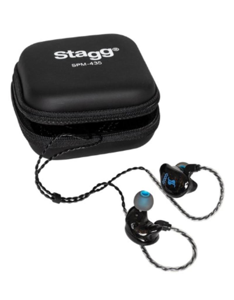 4 drivers in-ear stage monitors zwart SPM-435