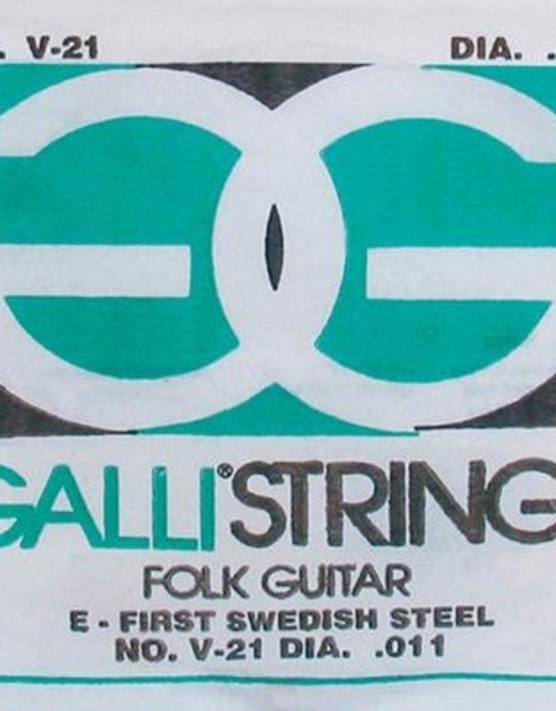 Galli Folk Guitar E-1 snaar voor akoestische gitaar 011