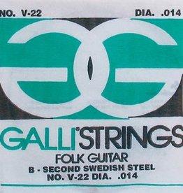 Galli Galli Folk Guitar B-2 snaar voor akoestische gitaar 014