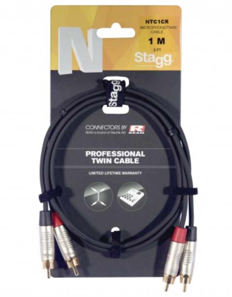 Stagg proferssional cable stereo RCA 0,6m