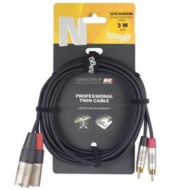Twin cable 2x XLR male - 2x RCA male