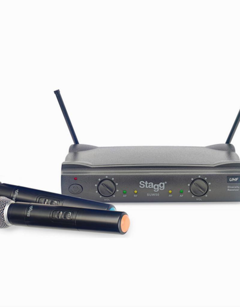 Stagg SUW50 draadloze microfoon set met 2 mics