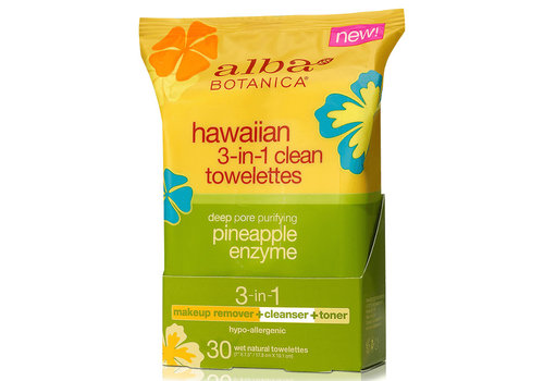 Alba Botanica Hawaiian 3-in-1 Clean Towelettes