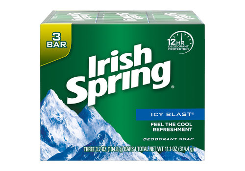 Irish Spring Icy Blast 3 Bar