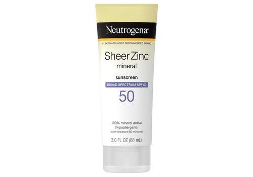 Neutrogena Sheer Zinc Mineral Sunscreen SPF 30 / 50