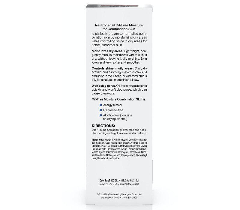 Oil-Free Moisture Combination Skin